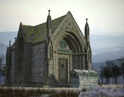 The church building 3D model VR / AR ready