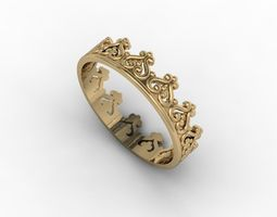 jewellery ring gold 3D print model
