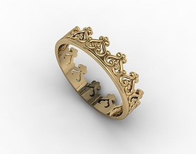 jewellery ring gold 3D print model