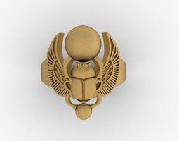 3D print model scarab beetle ring