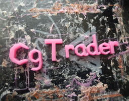 3D print model signs Cgtrader Letters