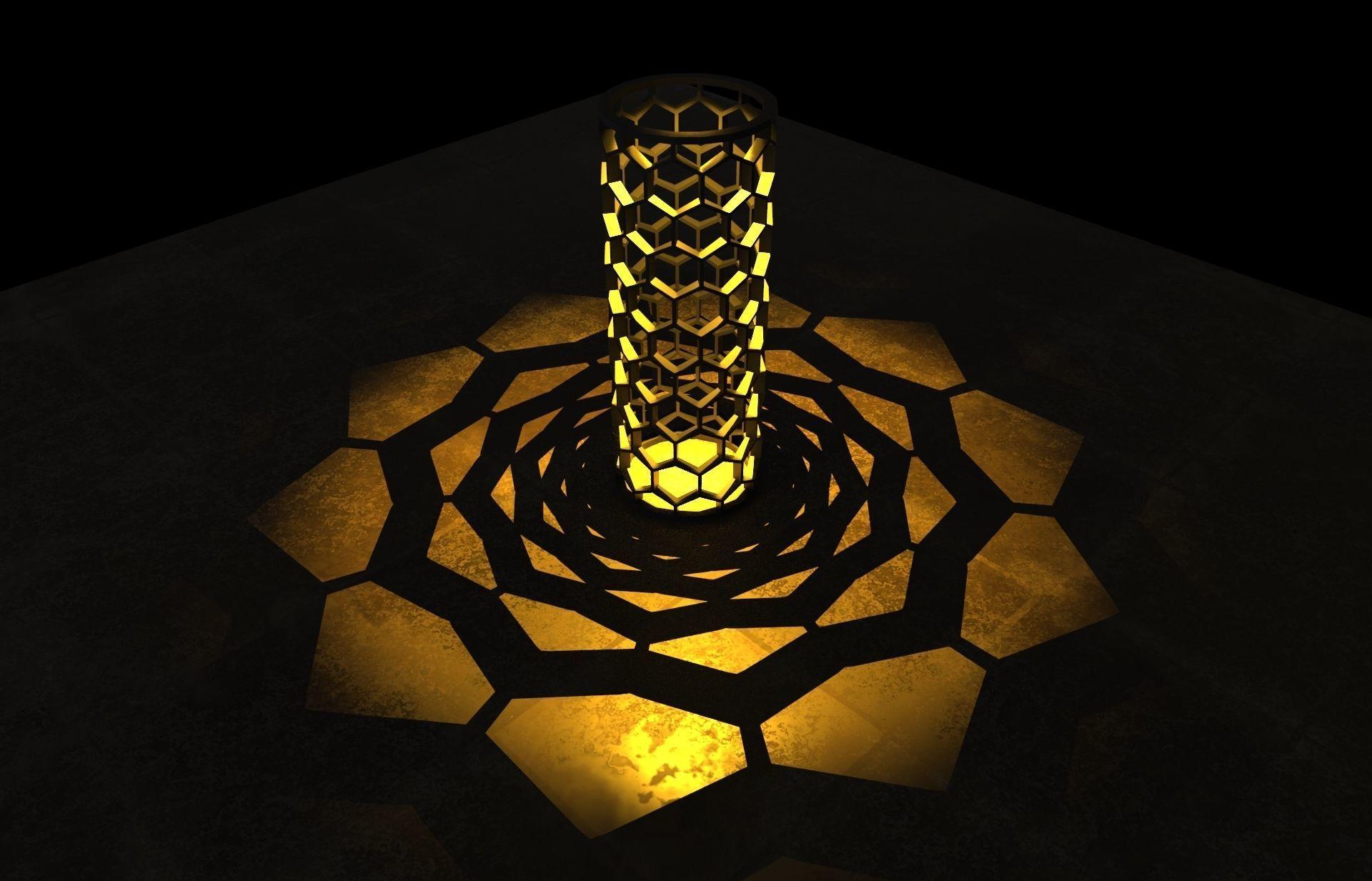 Honeycomb shaped Candle shade