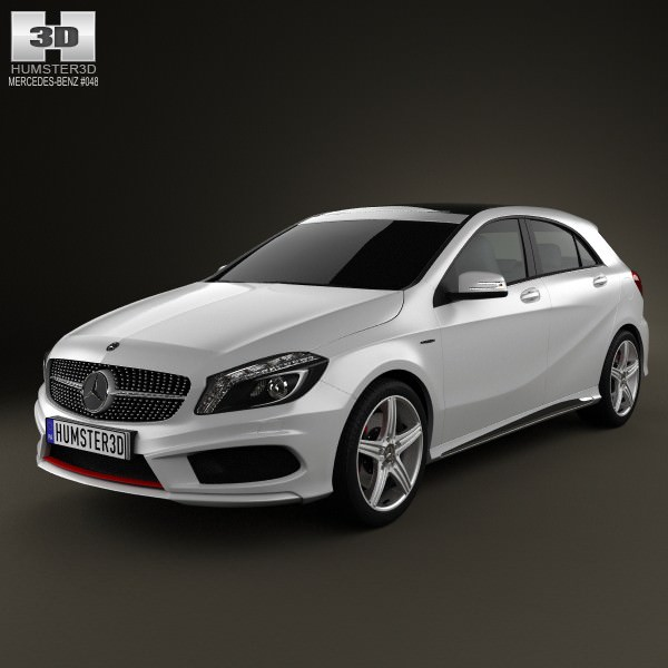 Mercedes-Benz A-class 2013 3D Model MAX OBJ 3DS FBX C4D