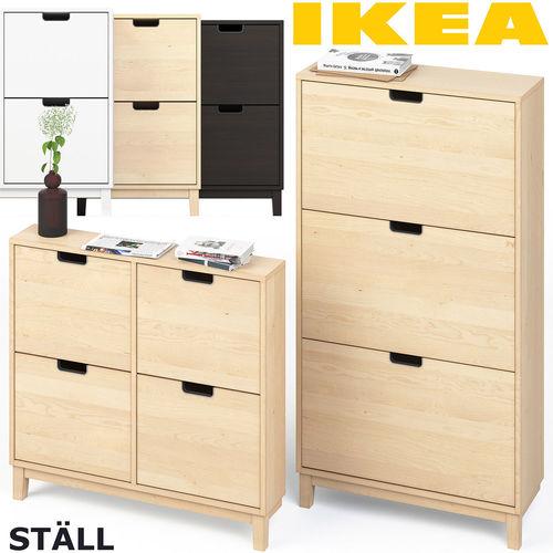 3d Model Ikea Stall Shoe Cabinet Set Cgtrader