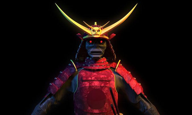 samurai 3d concept cgtrader