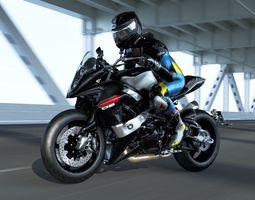 3D asset Bimota DB9 with Rider