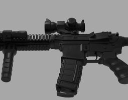 CARBINE Modified Carbine M4A1 Tactical RIS RAS 3D asset