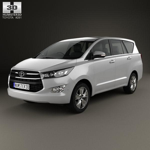 Toyota 2016 Models >> Toyota Innova 2016 3d Model