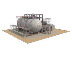 3D model VR / AR ready Industrial Silo 02