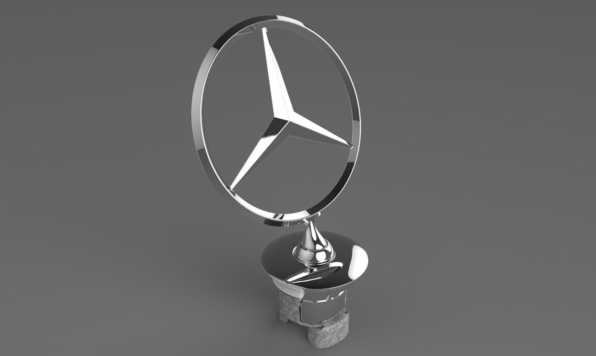 Mercedes benz star 3d model sldprt sldasm slddrw ige igs for Mercedes benz star logo
