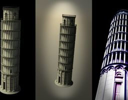 3D model monument Leaning tower of Pisa