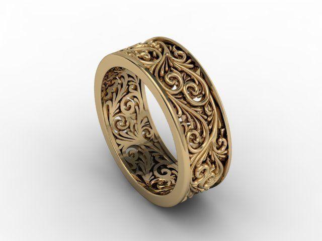 jewellery ring wedding 3d model stl 1