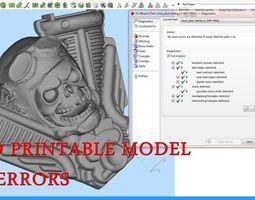 Harley Skull Pilot 3D print model