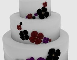3D cake with flowers