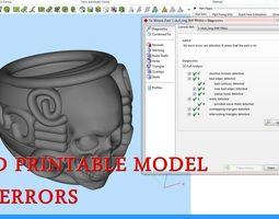 masons 3D printable model Skull ring