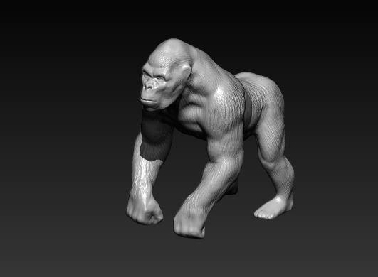 gorilla 3d model stl 1