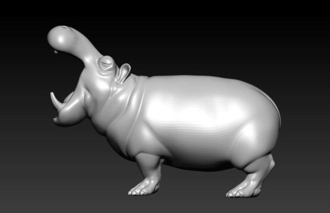 hippo 3d model stl 1