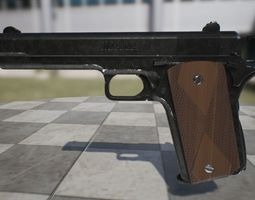 3D asset Colt M1911