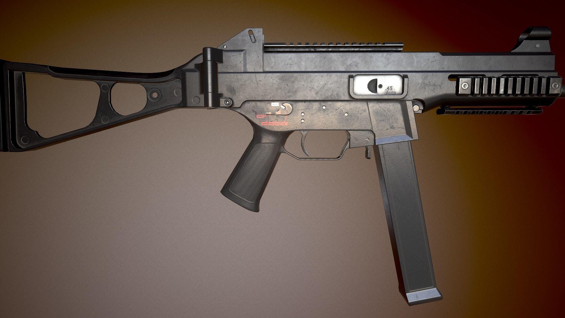 3D asset HK UMP-45 | CGTrader