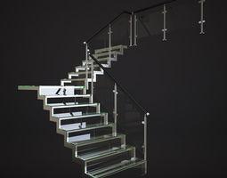 3D model Glass Stair