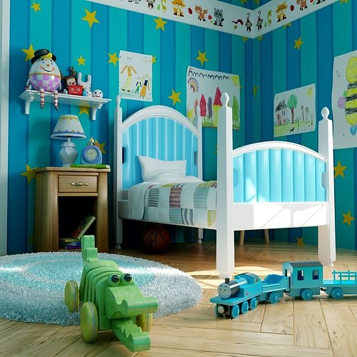 Kid Room 3d Model Cgtrader