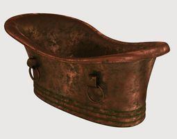 old copper bath 3D asset