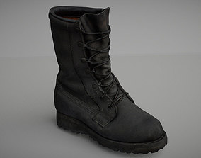 Military boot low poly 3D model low-poly