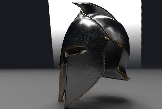 helmet of gladiator 3d model low-poly max obj mtl fbx ma mb spp 1