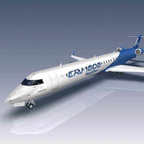 bombardier crj1000 3d model max obj mtl 3ds fbx lwo lw lws flt 1