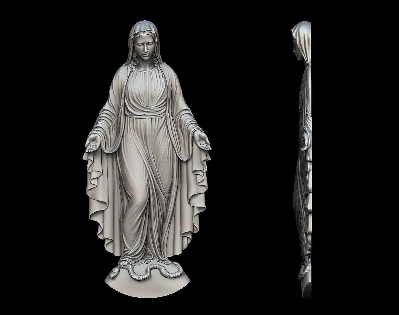 Virgin Mary Full Figure Pendant
