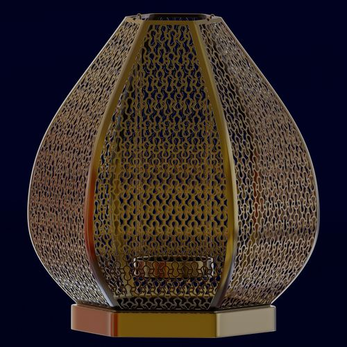 moroccan round candle holder  3d model obj mtl fbx blend dae 1