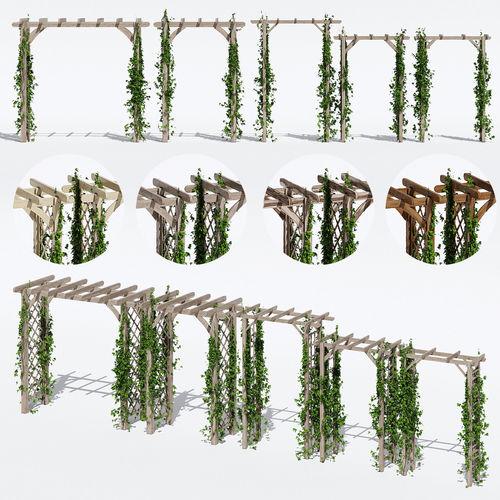 garden arches one 3d model max obj mtl fbx mat 1