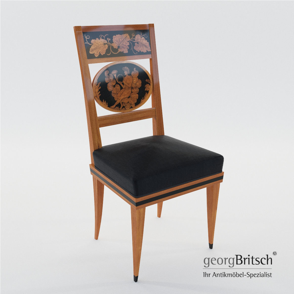 Biedermeier Chair   South Germany 1820   Georg Britsch 3d Model Max Obj Mtl  Fbx Pdf ...