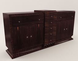 Sideboard - Art Deco 1920 sideboard 3D