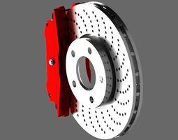 3D model Car Brake Disc brembo