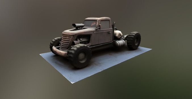 tow truck big brat 3d model low-poly max obj mtl 1
