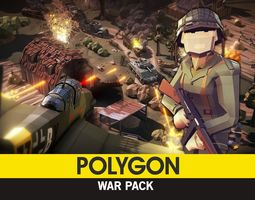 POLYGON - War Pack 3D asset