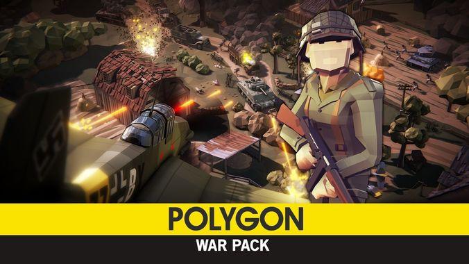 polygon - war pack  3d model low-poly obj mtl fbx ma mb tga unitypackage prefab mat 1