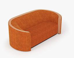 Sofa orange 3D