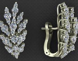 3D printable model LEO PIZZO DIAMOND EARRINGS