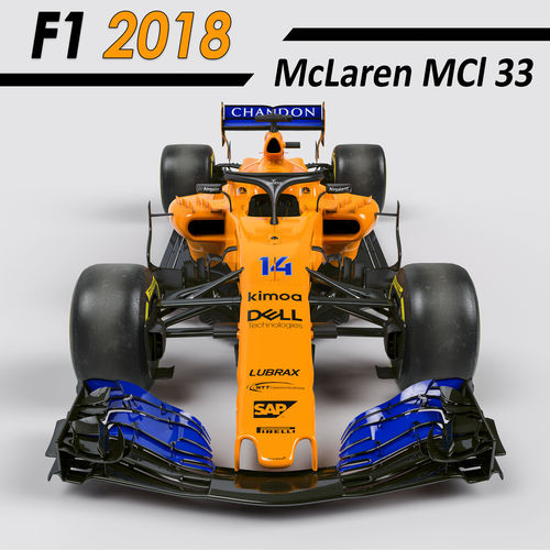 f1 mclaren mcl33 2018 3d realtime | cgtrader