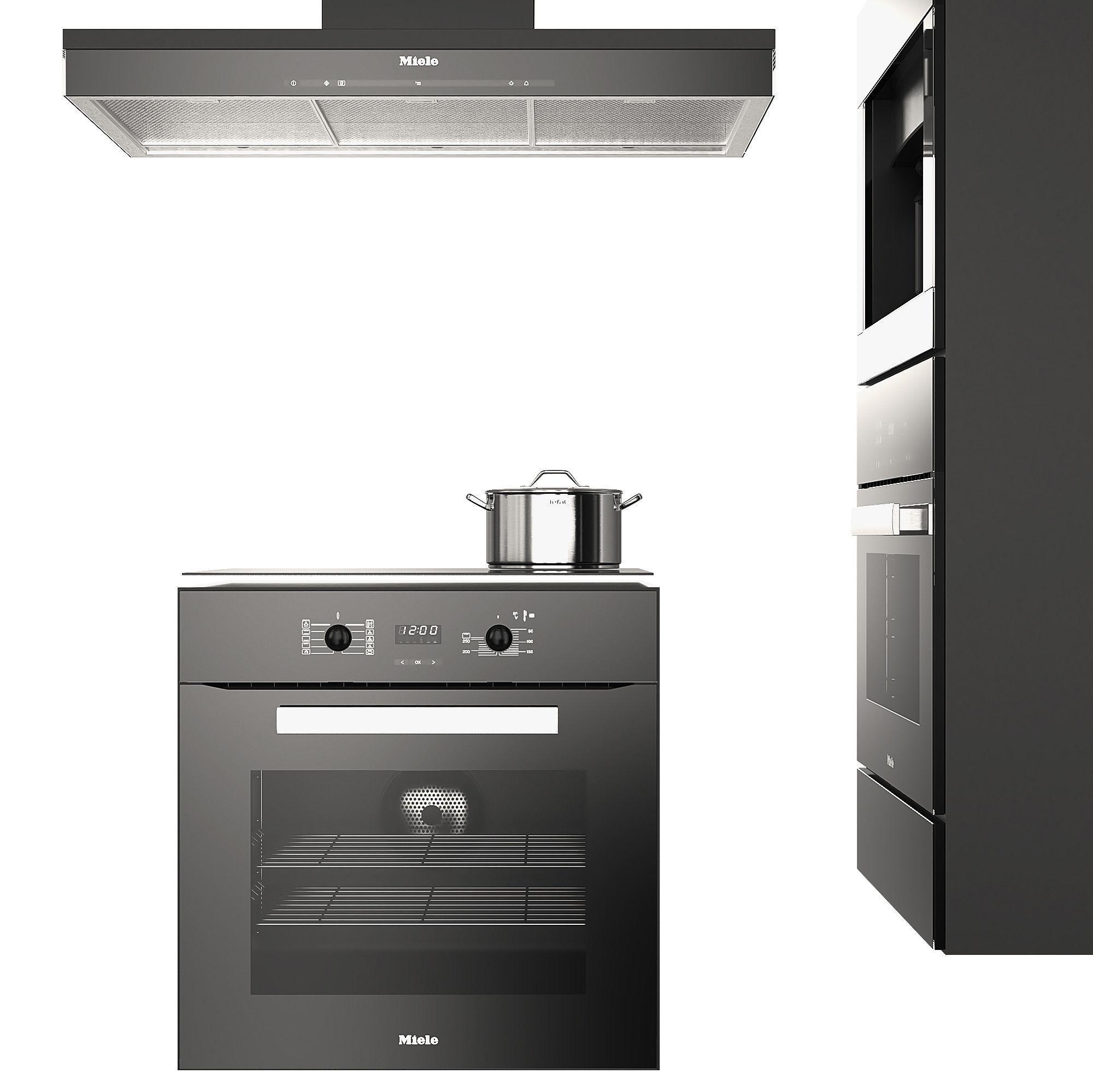 ... Miele Appliances Black 3d Model Max Obj Mtl 3 ...