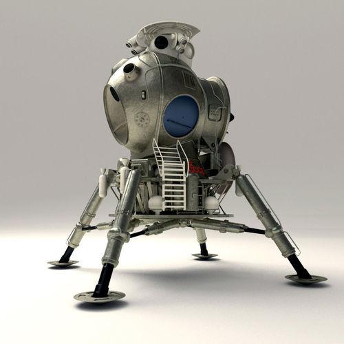 ussr lunar lander 3d model obj mtl blend 1