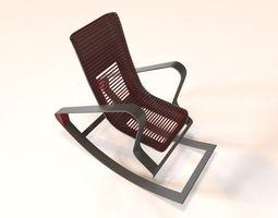 3D asset Designer Red Rocking Chair