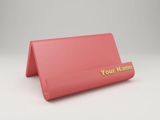 Modern business card holder 3d print model cgtrader modern business card holder 3d model stl 1 colourmoves