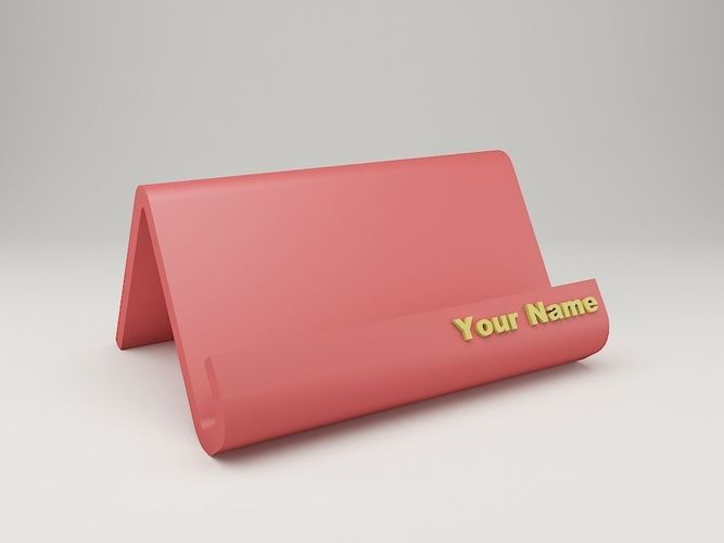 Modern business card holder 3d print model cgtrader modern business card holder 3d model stl 1 reheart Choice Image