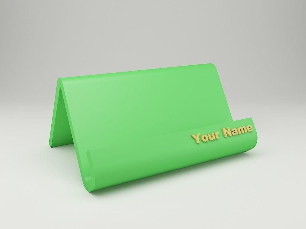Modern business card holder 3d print model cgtrader modern business card holder 3d model stl 2 reheart Choice Image