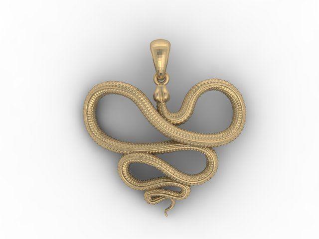 Snake pendant jewelry 3d printable model cgtrader snake pendant 3d model stl 1 aloadofball Images