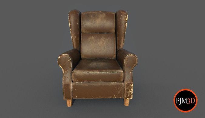 Merveilleux Old Armchair V01 3d Model Obj Fbx C4d 1 ...