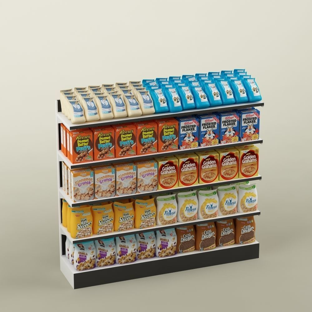 Storage shelving  rack store cereal food